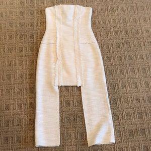 Alexis strapless linen dress